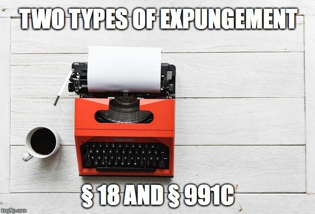 Two Types of Criminal Record Expungement in Oklahoma